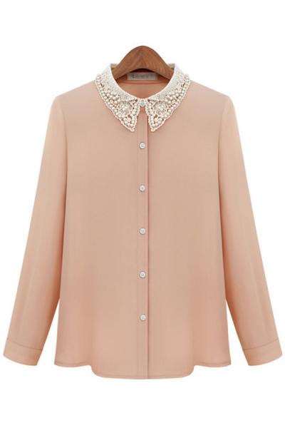 bejeweled-lace-collar-chiffon-shirt