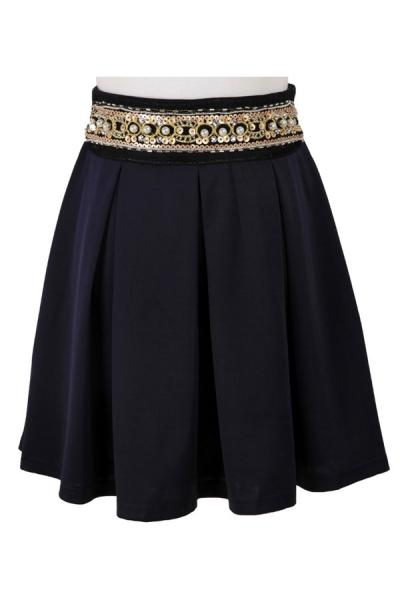 bejeweled-pleated-skirt