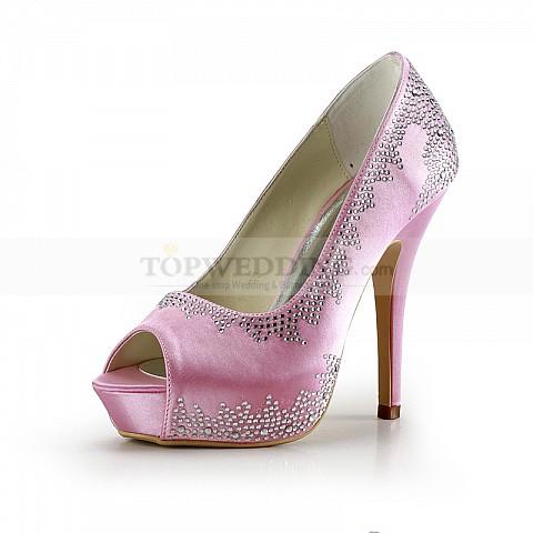Rhinestone-Accented-Pink-Satin-Platform-Wedding-Pumps