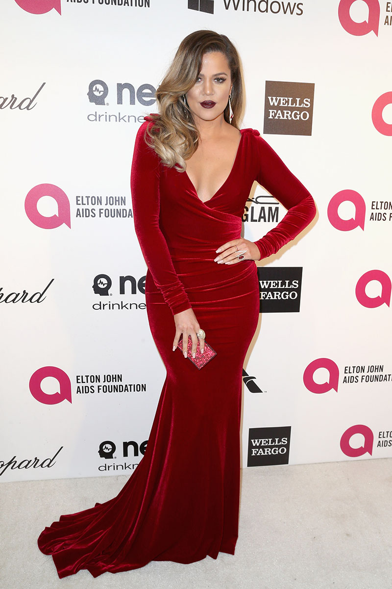 LOS ANGELES, CA - MARCH 02:  TV personality Khloe Kardashian attends the 22nd Annual Elton John AIDS Foundation's Oscar Viewing Party on March 2, 2014 in Los Angeles, California.  (Photo by Frederick M. Brown/Getty Images)
