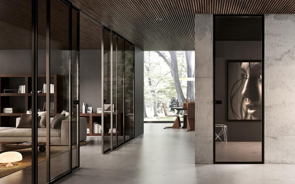 La porta divisoria, soluzione di design che divide senza separare